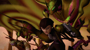 Donatello and Karai are Captured