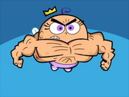 Poof buff muscles