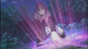 Sumire uses an invocation