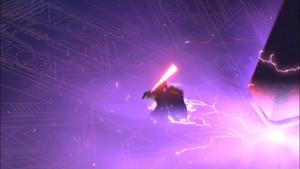 Darth Vader falling