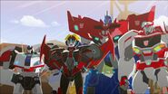 Optimus, Ratchet, Windblade and Jazz
