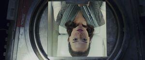 Rey inside a escape pod