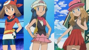 May, Dawn, and Serena all have characteristics