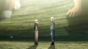 Minato leaving Naruto