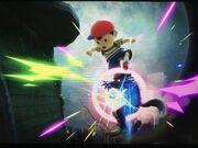 Ness Meteor Smash Wolf in Luigi's Mansion.jpg