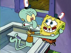 Squidward i used your clarinet to unclogged my toilet
