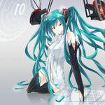 Hatsune miku miku append girl tie eyes gloves 28836 2732x2732