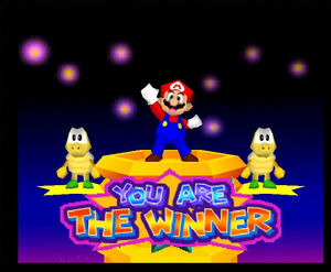 Mario Party 3 64 mario the winner with the two koopa troopas
