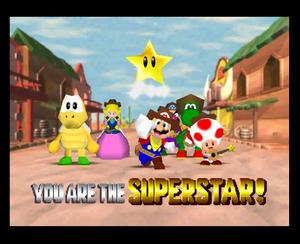 Mario party 2 mario yoshi peach wario koopa tropa and toad in Western Land