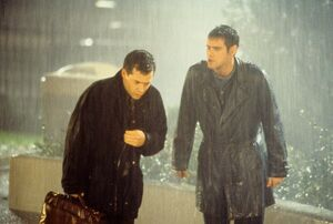 Steven and Chip in the rain