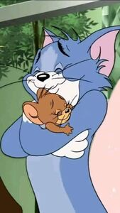 Tom and Jerry Hugging
