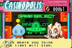 Cream and chesse in Sonic Pinball Party