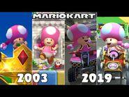 Evolution Of 1st Place (Toadette) In Mario Kart Games -2003-2019-