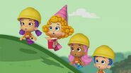 Bubble Guppies Molly Gil Deema and Oona watching the dragon crying