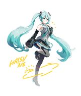 Yande.re 692743 hatsune miku skirt lift tagme thighhighs vocaloid