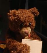 Teddy writing