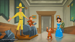 Curious George Royal Monkey- Ted finally founded George with Felipe's help