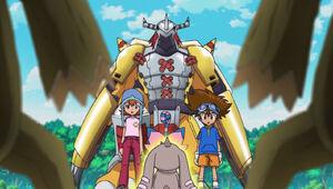 Ep 31 - Sora, Biyomon, WarGreymon, Taichi and Lopmon