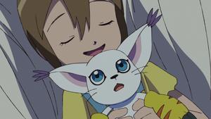 Hikari tells Gatomon to relax