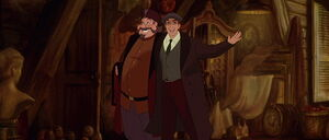 Dimitri and Vladimir longing to find Anastasia and take her to Paris where she can reunite with her grandmother