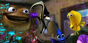 Gill and Tank gang overjoyed that Nemo's safe
