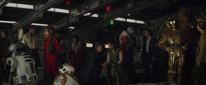 The Resistance inside the Falcon