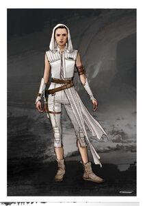 The Rise of Skywalker Rey art
