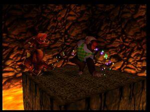 Donkey Kong 64 chunky vs Dogadon