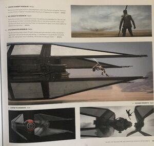 Rey jumps concept art