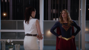 Lena and Supergirl