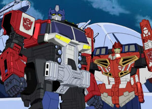 Optimus and Wing Saber