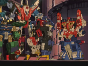 Optimus, Ironhide, Wing Saber, Superion Maximus and Omnicon Fanboys