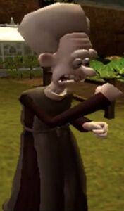Reverend Clement Hedges model in the Were Rabbit video game