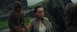 Chewie, Rey, Luke - TLJ