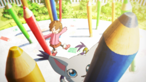 Digimon Mind Game - Kari and Gatomon