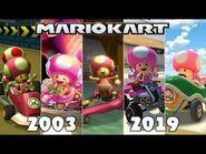 Evolution Of Toadette In Mario Kart Games -2003-2019-