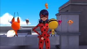 Kwamis cheer Ladybug