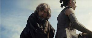 Luke senses the darkside