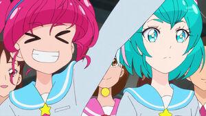 STPC39 Lala notices Elena seems nervous as Hikaru cheers her on