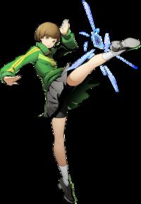 Chie Satonaka (BlazBlue Cross Tag Battle, Character Select Artwork).png