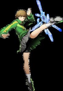 Chie Satonaka (BlazBlue Cross Tag Battle, Character Select Artwork)