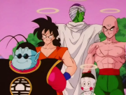 King Kai with Piccolo Tien Yamcha and Chiaotzu