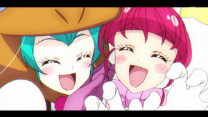 STPC37 Lala and Hikaru smiling happily together