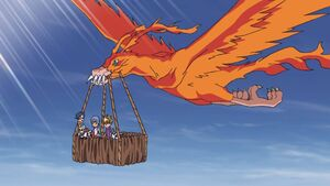 Birdramon carry Sora, Joe, Gomamon, Yamato & Gabumon