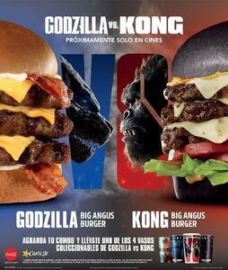 New Godzilla vs. Kong Burgers from Carl's Jr Spain