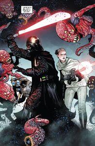 Sabé and Darth Vader