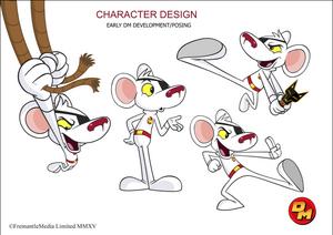 Danger Mouse turnaround model sheet
