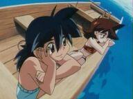 Hilary & Tyson in Boat