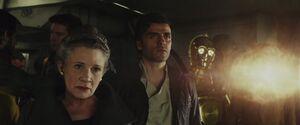 Leia, Poe and C-3PO -TLJ