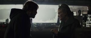 Luke talks to Leia